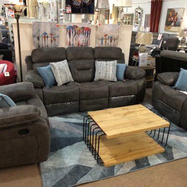 Copeland Reclining Sofa Charcoal Grey